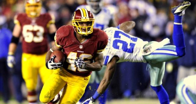 Alfred Morris corrió para 200 yardas y anotó tres touchdowns en la victoria de los Redskins sobre los Cowboys.