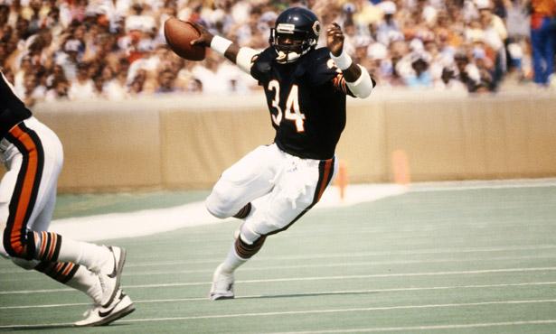 Walter Payton. Un histórico de los Bears y la NFL. Segundo en la tabla histórica de yardas por tierra.