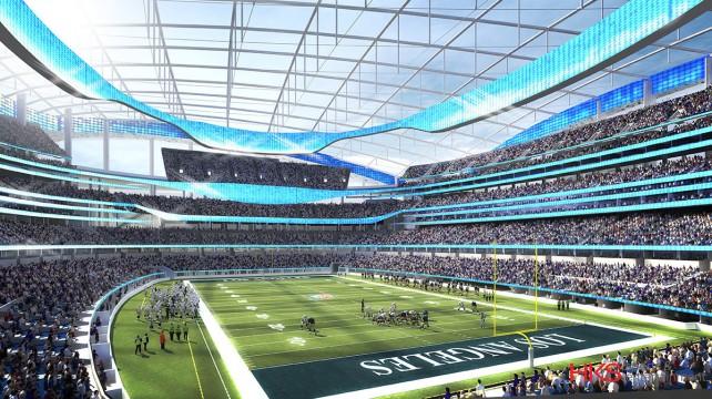 Los Rams ofrecen un estadio de 80 mil personas, más todo un proyecto comercial y urbanístico.